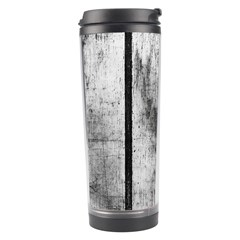 BLACK AND WHITE FENCE Travel Tumblers