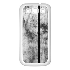 BLACK AND WHITE FENCE Samsung Galaxy S3 Back Case (White)