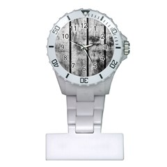 BLACK AND WHITE FENCE Nurses Watches