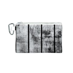 BLACK AND WHITE FENCE Canvas Cosmetic Bag (S)