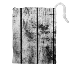 BLACK AND WHITE FENCE Drawstring Pouches (XXL)