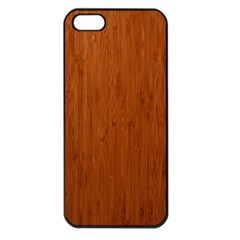 BAMBOO DARK Apple iPhone 5 Seamless Case (Black)