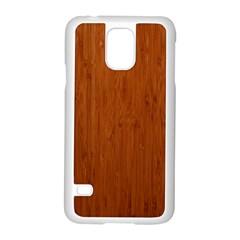 BAMBOO DARK Samsung Galaxy S5 Case (White)