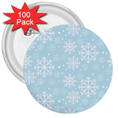 Frosty 3  Buttons (100 pack)