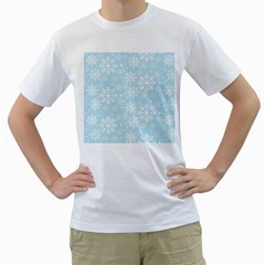 Frosty Men s T Shirt (white) (two Sided)
