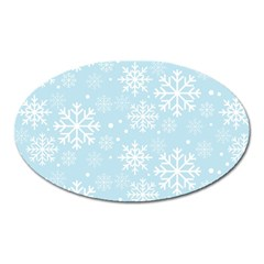Frosty Oval Magnet