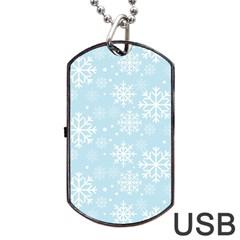 Frosty Dog Tag USB Flash (One Side)