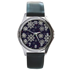 Snowflake Round Metal Watches