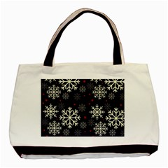 Snowflake Basic Tote Bag (Two Sides)