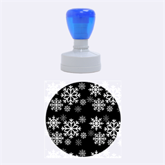 Snowflake Rubber Round Stamps (medium)