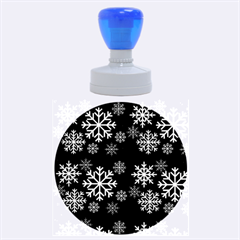 Snowflake Rubber Round Stamps (Large)