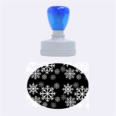 Snowflake Rubber Oval Stamps