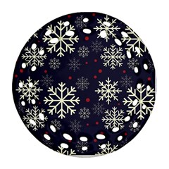 Snowflake Round Filigree Ornament (2Side)