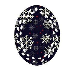 Snowflake Oval Filigree Ornament (2 Side)