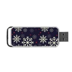 Snowflake Portable Usb Flash (one Side)