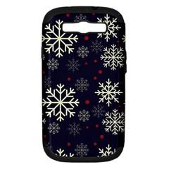 Snowflake Samsung Galaxy S III Hardshell Case (PC+Silicone)