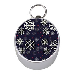 Snowflake Mini Silver Compasses