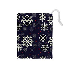 Snowflake Drawstring Pouches (Medium)