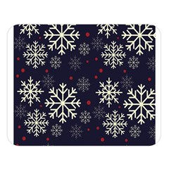 Snowflake Double Sided Flano Blanket (large)