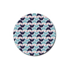 Moon Pattern Rubber Round Coaster (4 pack)
