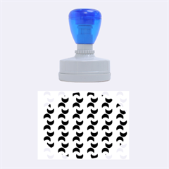 Moon Pattern Rubber Oval Stamps