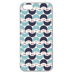 Moon Pattern Apple Seamless iPhone 5 Case (Clear)