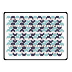 Moon Pattern Double Sided Fleece Blanket (small)