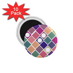 Dots and Squares 1.75  Magnets (10 pack)