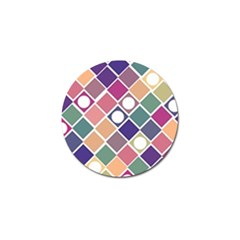 Dots and Squares Golf Ball Marker (10 pack)
