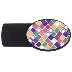 Dots and Squares USB Flash Drive Oval (4 GB)