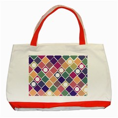 Dots and Squares Classic Tote Bag (Red)