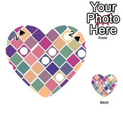 Dots And Squares Playing Cards 54 (heart)
