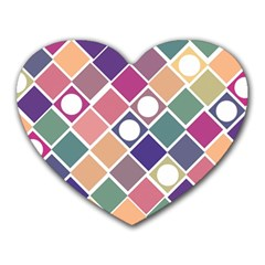 Dots and Squares Heart Mousepads