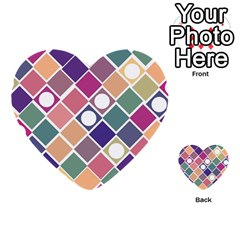 Dots and Squares Multi-purpose Cards (Heart)