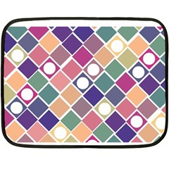 Dots And Squares Fleece Blanket (mini)