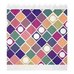 Dots And Squares Shower Curtain 66  X 72  (large)