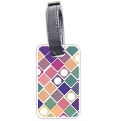 Dots and Squares Luggage Tags (Two Sides)