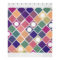 Dots And Squares Shower Curtain 60  X 72  (medium)