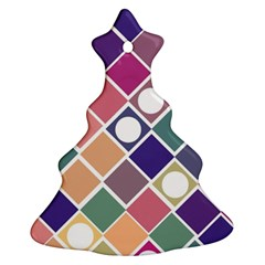 Dots And Squares Ornament (christmas Tree)