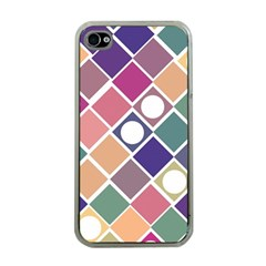 Dots and Squares Apple iPhone 4 Case (Clear)