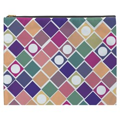 Dots and Squares Cosmetic Bag (XXXL)