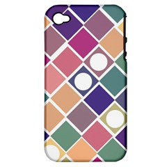 Dots and Squares Apple iPhone 4/4S Hardshell Case (PC+Silicone)