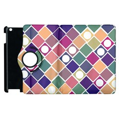 Dots and Squares Apple iPad 3/4 Flip 360 Case