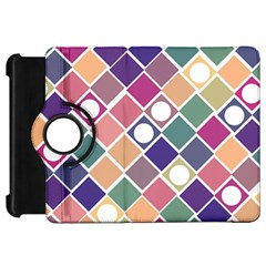 Dots and Squares Kindle Fire HD Flip 360 Case