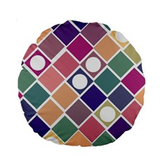 Dots and Squares Standard 15  Premium Round Cushions