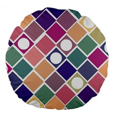 Dots and Squares Large 18  Premium Round Cushions