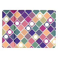 Dots And Squares Samsung Galaxy Tab 10 1  P7500 Flip Case