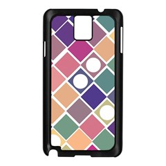 Dots and Squares Samsung Galaxy Note 3 N9005 Case (Black)