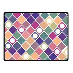 Dots And Squares Double Sided Fleece Blanket (small)