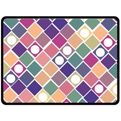 Dots and Squares Double Sided Fleece Blanket (Large)